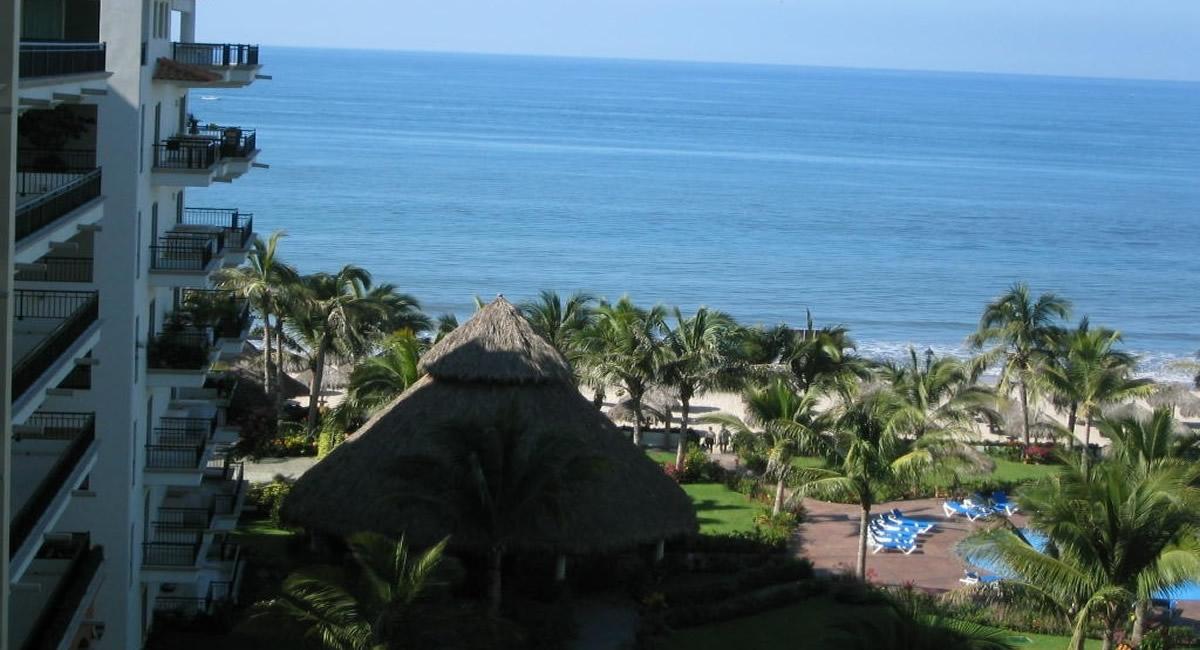 Vista terraza Condominio Playa Royale en Nuevo Vallarta