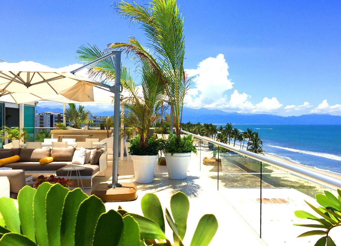 South View Ocean Front Corner Penthouse in Peninsula Nuevo Vallarta Mexico